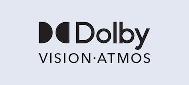 Logo Dolby Vision® dan Dolby Atmos®