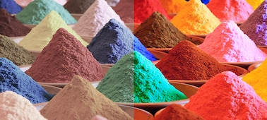 Gambar pasir berwarna yang menunjukkan Triluminos PRO