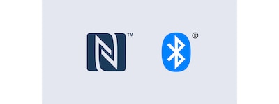 Logo NFC dan Bluetooth
