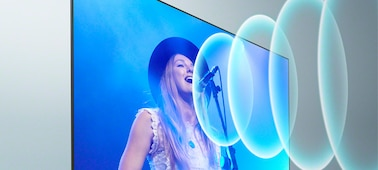 Gambar penyanyi sedang tampil di konser