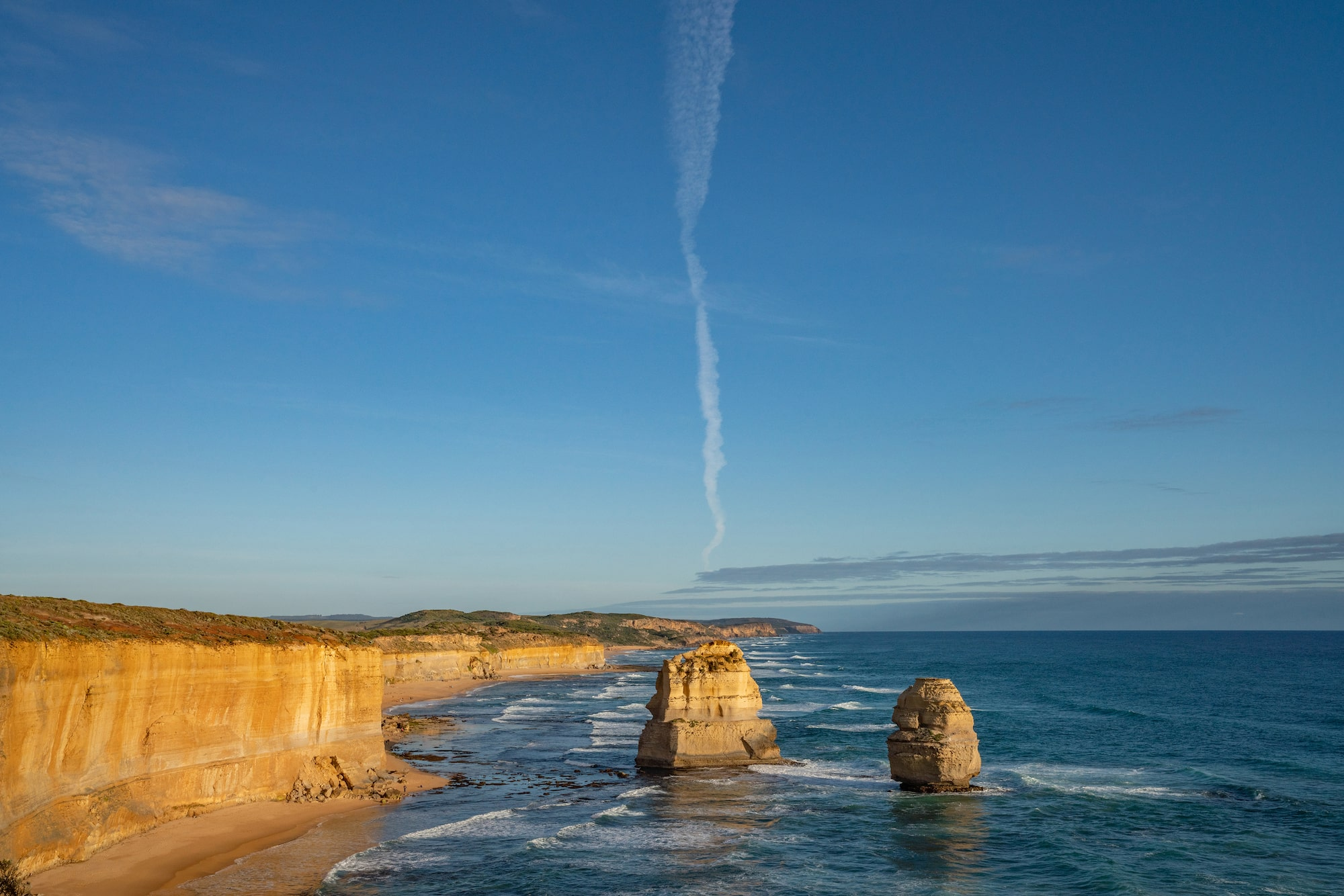 Blue skies of the Twelve Apostles