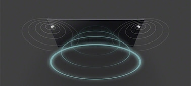 Gambar gelombang suara dari TV dengan Acoustic Multi-Audio™