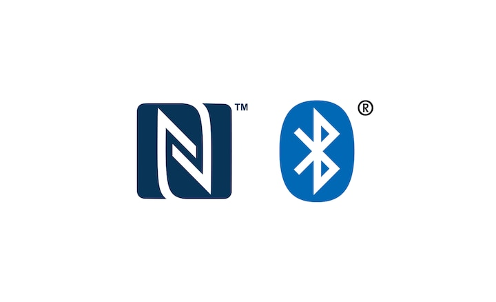 NFC™ and Bluetooth® logos