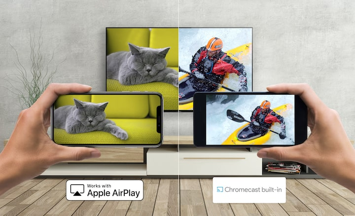 Smartphone Android menayangkan media ke TV Sony dengan Apple AirPlay dan Chromecast