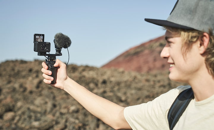 Mikrofon eksternal untuk suara kualitas tinggi