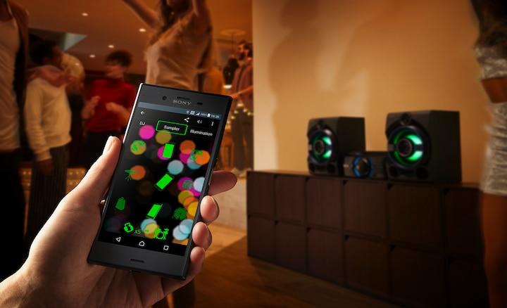 Sinkronisasi smartphone Sony dengan speaker system