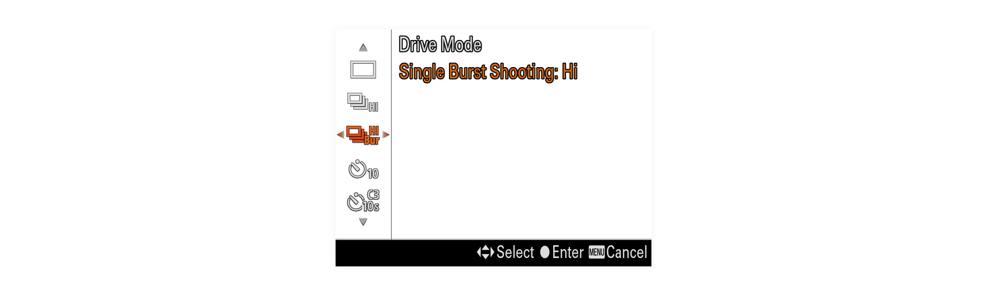Single Burst Shooting: High burst gives me the ability to take perfect shots