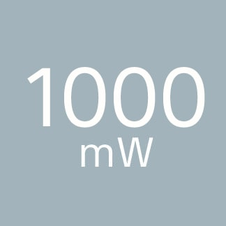 1000mW high power capacity