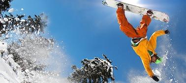 Gambar pemain snowboard menunjukkan detail bebas blur dengan LED XR X-Motion Clarity™