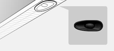 Gambar menampilkan detail lokasi X-balanced speaker™