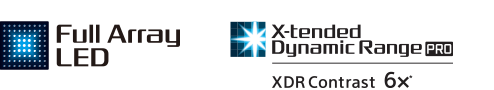 Full Array LED & X-tended Dynamic Range logos